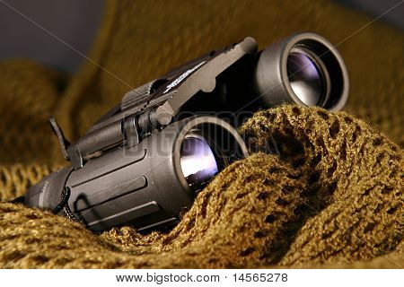 Military Spyglass Closeup