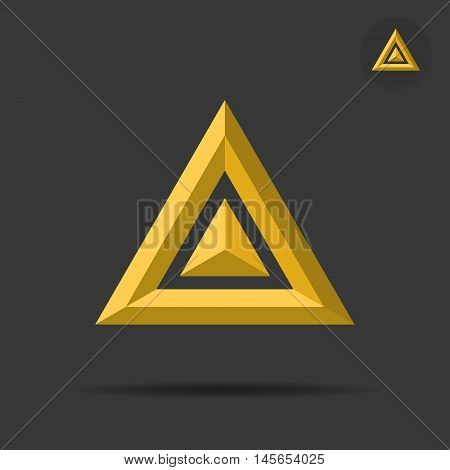 Delta letter sign 2d triangle logo vector illustration eps 10