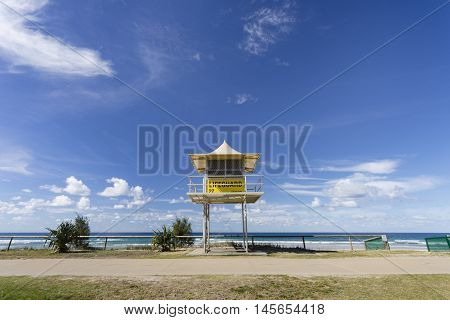 Lifeguard Tower on the Gold Coast, Queensland, Australia