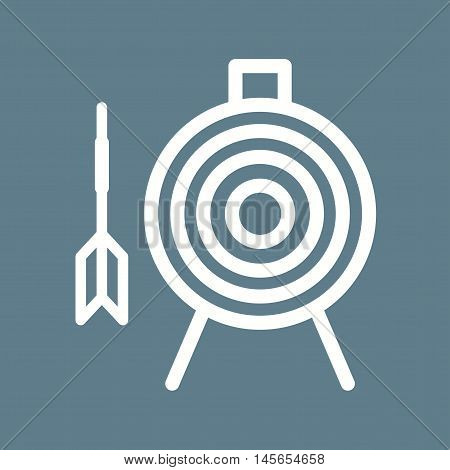 Dart, board, target icon vector image. Can also be used for circus. Suitable for web apps, mobile apps and print media.