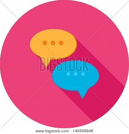 Chat, sms, notification icon vector image. Can also be used for networking. Suitable for use on web apps, mobile apps and print media.