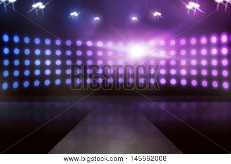 Empty stage with lamp sparkling you can put your design on it