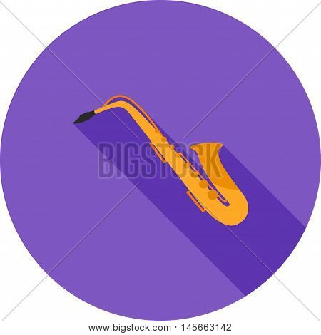 Saxophone, instrument, jazz icon vector image. Can also be used for music. Suitable for web apps, mobile apps and print media.