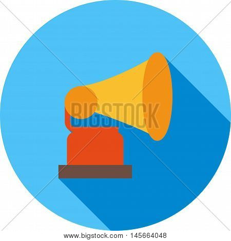 Record, player, old icon vector image. Can also be used for music. Suitable for web apps, mobile apps and print media.