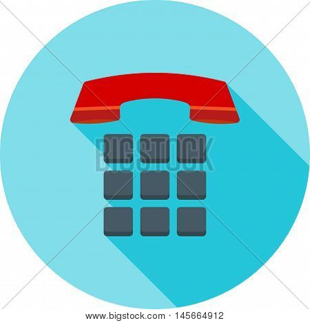 Phone, telephone, office icon vector image. Can also be used for customer services. Suitable for use on web apps, mobile apps and print media.