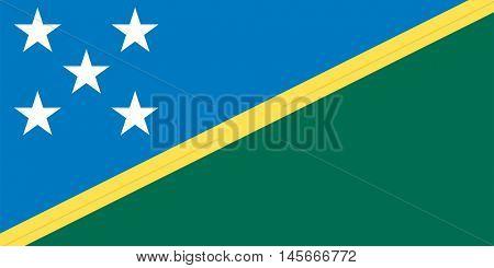 Vector Solomon Islands flag