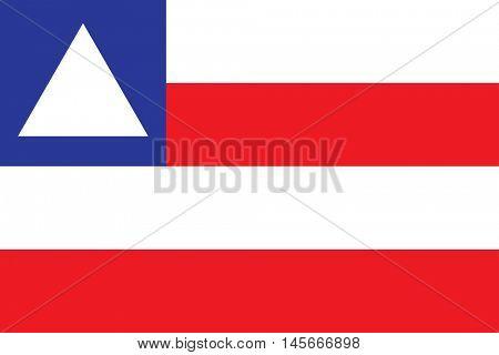 Vector Brazilian state Bahia flag