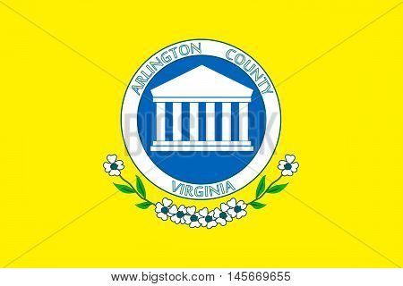Flag of Arlington County of Virginia USA