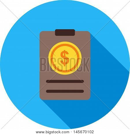 Bill, invoice, payment icon vector image.Can also be used for shopping. Suitable for web apps, mobile apps and print media.