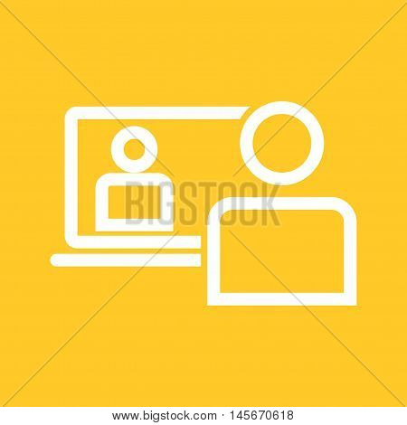 Conference, call, business icon vector image. Can also be used for E Learning. Suitable for web apps, mobile apps and print media.
