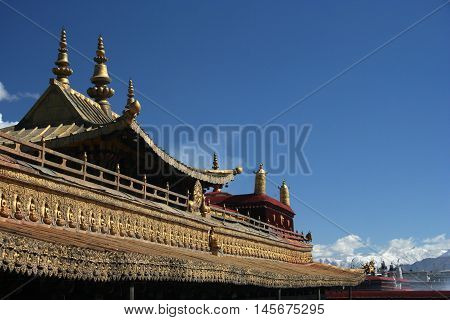 Decor of the Jokhang Temple, Tibet, Lhasa