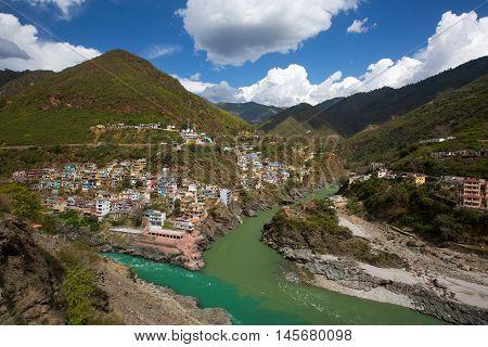 River Ganga in spring season in India