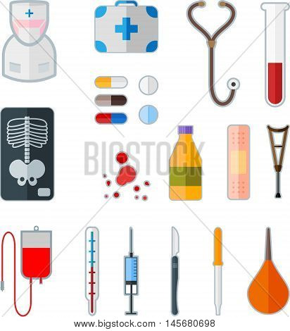 Abstract graphic set of medical flat icon