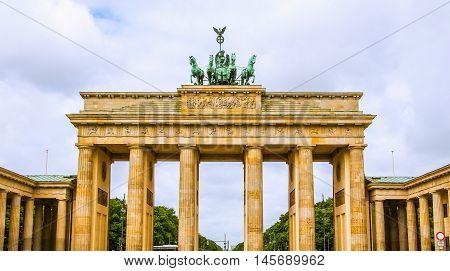 Brandenburger Tor In Berlin Hdr