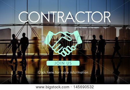 Contractor Deal Agreement Covenant Contraction Concept