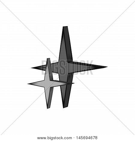 Stars icon in black monochrome style isolated on white background. Figure symbol. Vector illustration