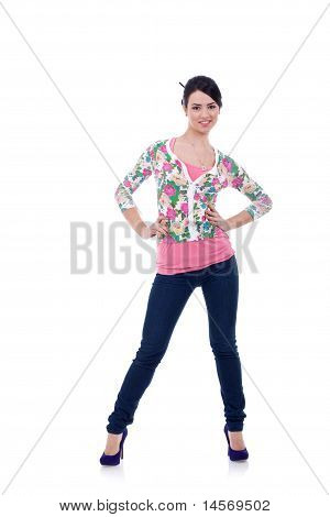 Young Woman In Casual Clothes