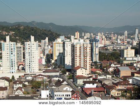 Vista da cidade de Blumenau - Santa Catarina - Brasil
