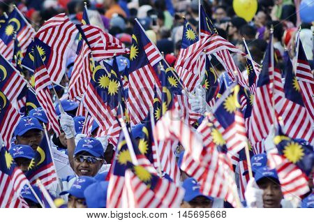 Kuala Lumpur August 31 2016 joyous celebration of Independence Day in celebrating excited by all Malaysians to attend the rally and parade at Dataran Merdeka Kuala Lumpur.