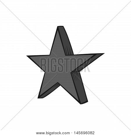 Geometric figure of heavenly stars icon in black monochrome style isolated on white background. Figure symbol. Vector illustration