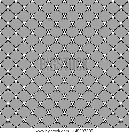 Triangle geometric seamless pattern. Fashion graphic background design. Modern stylish abstract monochrome texture. Template for prints textiles wrapping wallpaper website Stock VECTOR ilustration