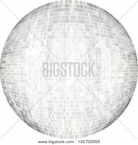 White Ball in mosaic - Illustration,  White Sphere vector,   Abstract Grunge white Mosaic in circle