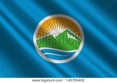 Flag of Provo city in state of Utah USA. 3D illustration