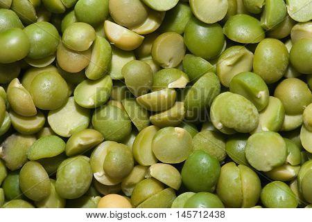 Dried spilt pea background, color image, horizontal image