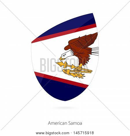 Flag of American Samoa in the style of Rugby icon. Vector Illustration.