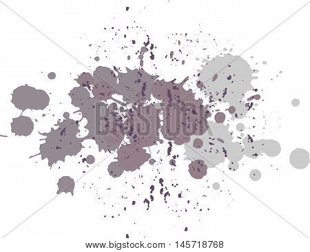 Background with blots and splashes of paint. Vector blots and vector  splashes.Purple blobs