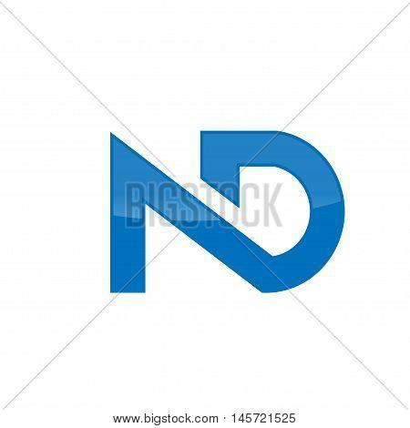 elegant letter ND logo concept, ND letter, ND symbol