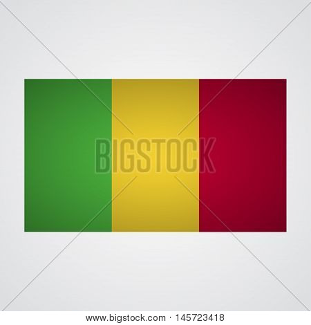 Mali flag on a gray background. Vector illustration