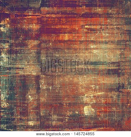 Grunge background or vintage texture in traditional retro style. With different color patterns: yellow (beige); brown; green; red (orange); purple (violet); pink