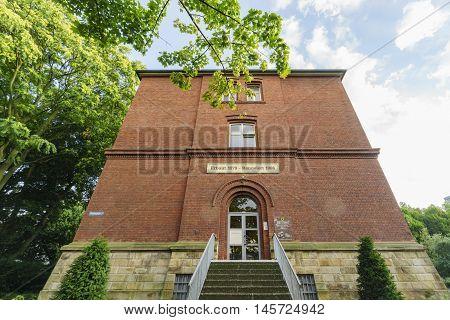 Red Old Historical Building Near Stadtgarten
