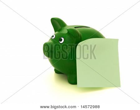 Piggy Bank With A Message