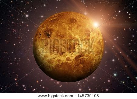 Solar System - Venus. It Is The Second Planet From The Sun.