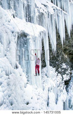 Ice Climbing.