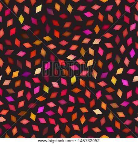 Vector Seamless Multicolor Rhombus Jumble Pattern. Abstract Geometric Background Design
