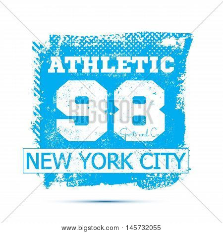 Athletic sport label typography, t-shirt graphics. Vector Graphics and t-shirt design for apparel
