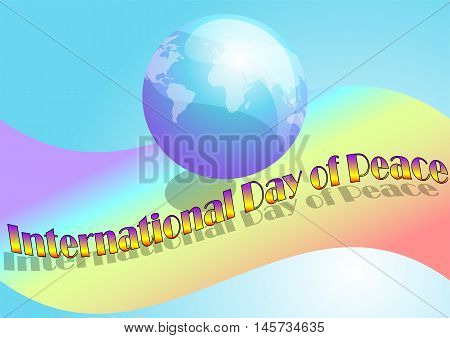 International Day of Peace. abstract peace day background