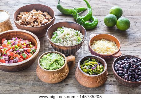 Ingredients For Chicken Burrito Bowl