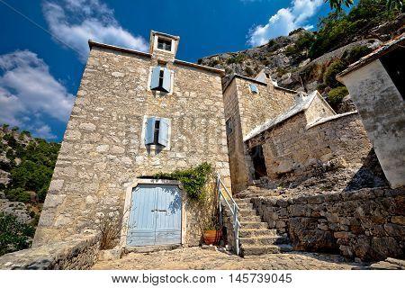 Pustinja Blaca hermitage in Brac island canyon view Dalmatia Croatia