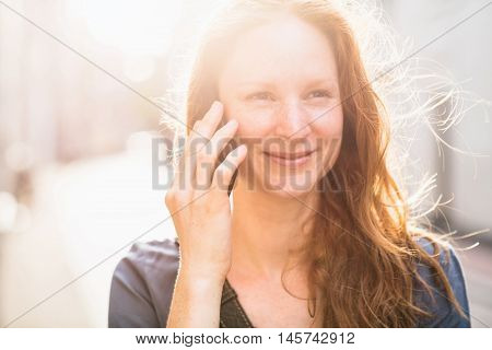 Fresh Portrait Of A Woman On The Phone