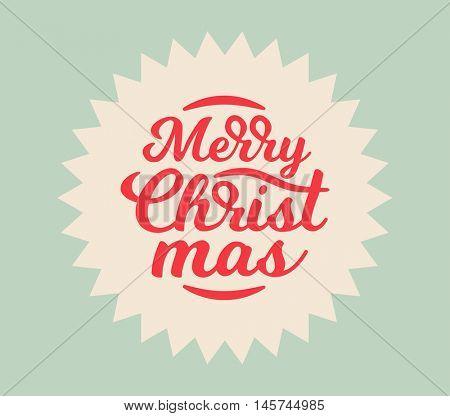 Christmas vector label design. Retro celebration card design. Typographic design element. Holiday wish.