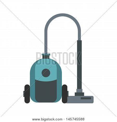 Vacuum cleaner icon in flat style isolated on white background. Home appliances symbol vector illustration