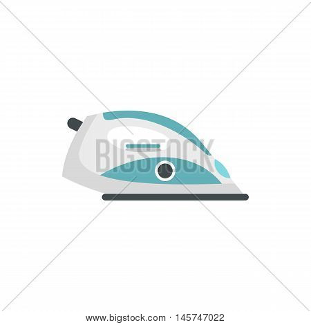 Iron icon in flat style isolated on white background. Home appliances symbol vector illustration
