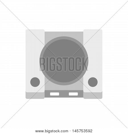 Game console icon in flat style isolated on white background. Play symbol vector illustration