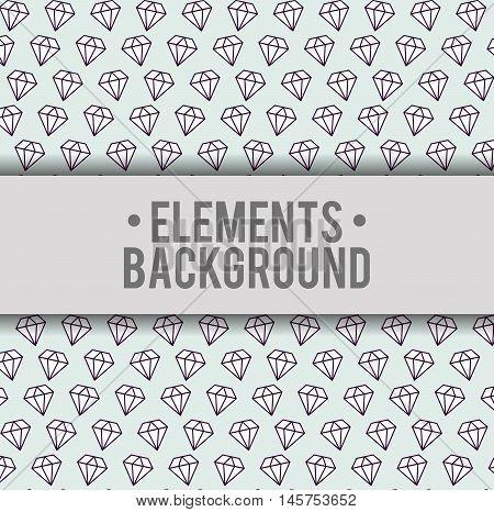 diamonds elements background wallpaper cute fantasy fairytale female childhood dream icon. Colorful design. Vector illustration