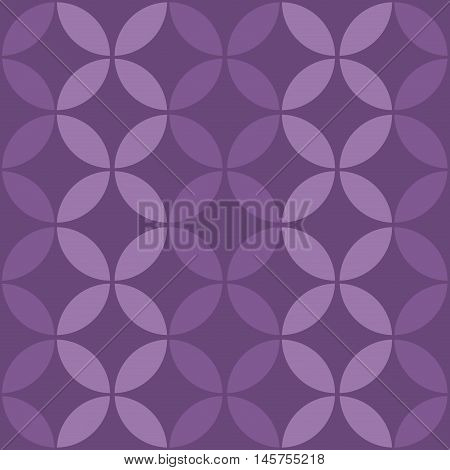 Seamless Leaves In Circle Seamless Vector Pattern.