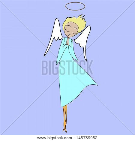 angel baby vector nimbus christmas art .